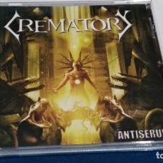 CDs de Música: CD( CREMATORY - ANTISERUM )2014 STEAMHAMMER GERMANY - DEATH METAL, GOTHIC METAL - PERFECTO. Lote 243496940