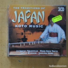 CDs de Música: VARIOS - THE TRADITIONS OF JAPAN KOTO MUSIC - 3 CD. Lote 243535630
