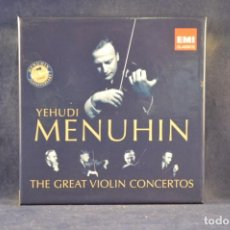 CDs de Música: YEHUDI MENUHIN ‎- THE GREAT VIOLIN CONCERTOS - COMPILATION - 10 CD. Lote 243573020