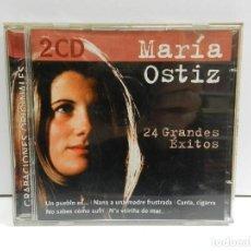 CDs de Música: DISCO 2 X CD. MARÍA OSTIZ – 24 GRANDES ÉXITOS. COMPACT DISC.. Lote 243650180