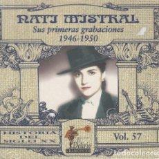 CDs de Música: NATI MISTRAL - SUS PRIMERAS GRABACIONES 1946 - 1950 - CD NUEVO PRECINTADO. Lote 243651380