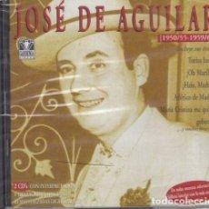 CDs de Música: JOSE DE AGUILAR - DOBLE CD NUEVO PRECINTADO INCLUYE LOS HIMNOS DEL ATLETICO DE MADRID Y REAL MADRID. Lote 243652270