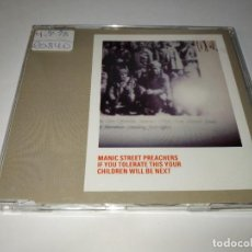 CDs de Música: 0221-MANIC STREET PREACHERS IF YOU TOLERATE THIS YOUR CHILDREN WILL BE NEST CD SINGLE. Lote 243776650