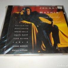 CDs de Música: 0221- JOHNNY MATHIS BETTER TOGETHER THE DUET ALBUM CD NUEVO REPRECINTADO. Lote 243815590