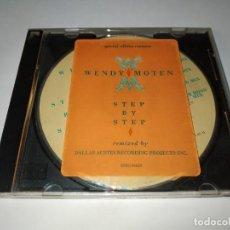 CDs de Música: 0221- WENDY MOTEN STEP BY STEP SPECIAL EDITION REMIXES PROMO CD / DISCO ESTADO NUEVO. Lote 243818405