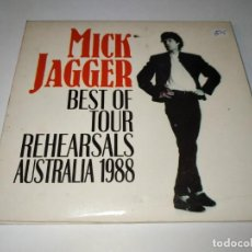 CDs de Música: 0221-MICK JAGGER BEST OF TOUR REHEARSALS AUSTRALIA 1988 2 CD / DISCO ESTADO BUENO. Lote 243824700