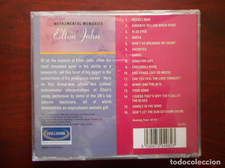 CDs de Música: CD INSTRUMENTAL MEMORIES: ELTON JOHN (O3) - Foto 2 - 243852625