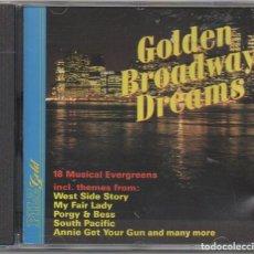 CDs de Música: GOLDEN BROADWAY DREAMS - 18 MUSICAL EVERGREENS / CD ALBUM / MUY BUEN ESTADO RF-9137. Lote 243863640