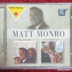 CDs de Música: MATT MONRO (THIS IS THE LIFE - HERE'S TO MY LADY) CD 1997 * PRECINTADO. Lote 243879745
