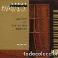 CDs de Música: VARIOUS - GREAT PIANISTS OF THE 20TH CENTURY: SAMPLER (2XCD, SMPLR) LABEL:PHILIPS CLASSICS CAT#: 46. Lote 243883225