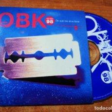 CDs de Música: OBK DE QUE ME SIRVE LLORAR CD SINGLE PROMOCIONAL CON LA PORTADA DE CARTON DEL AÑO 1998 1 TEMA. Lote 243898645
