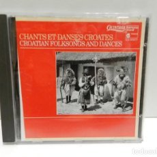 CDs de Música: DISCO CD. CHANTS ET DANSES CROATES / CROATIAN FOLKSONGS AND DANCES. COMPACT DISC.. Lote 243918975