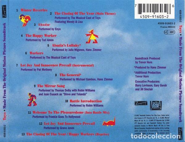 CDs de Música: TOYS / Hans Zimmer, Enya, Pat Metheny... CD BSO - Foto 2 - 243922835