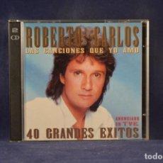 CDs de Musique: ROBERTO CARLOS - 40 GRANDES ÉXITOS - 2 CD. Lote 243992220