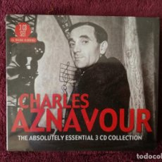 CDs de Música: CHARLES AZNAVOUR - THE ABSOLUTELY ESSENTIAL - 3 X CD PRECINTADO. Lote 244000880