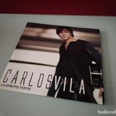 CDs de Música: CARLOS VILA / CUARENTA HORAS / CON EL CORAZON + 1 (CD SINGLE CARTON PROMO 2004)). Lote 244015065
