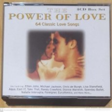 CDs de Música: THE POWER OF LOVE - 4 CD'S 1999 (MICHAEL JACKSON, ELTON JOHN, THE BANGLES, AQUA, EURYTHMICS..). Lote 244200145