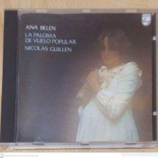 CDs de Música: ANA BELEN (LA PALOMA DE VUELO POPULAR - NICOLAS GUILLEN) CD 1989. Lote 244420480
