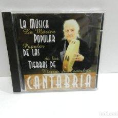 CDs de Música: DISCO CD. LA MÚSICA POPULAR DE LAS TIERRAS DE CANTABRIA. COMPACT DISC.. Lote 244440875