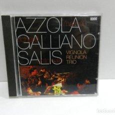 CDs de Música: DISCO CD. MARCEL AZZOLA, RICHARD GALLIANO & ANTONELLO SALIS – VIGNOLA REUNION TRIO. COMPACT DISC.. Lote 244440960