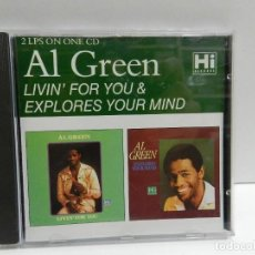 CDs de Música: DISCO CD. AL GREEN ‎– LIVIN' FOR YOU & EXPLORES YOUR MIND. COMPACT DISC.. Lote 244444025