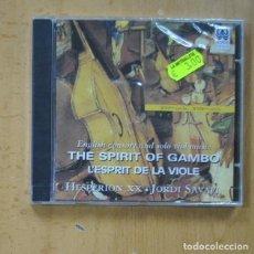 CDs de Musique: JORDI SAVALL - THE SPIRIT OF GAMBO L´ESPRIT DE LA VIOLE - CD. Lote 244501810