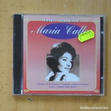 CDs de Música: MARIA CALLAS - THE GREAT - CD. Lote 244503165