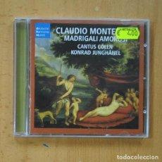 CDs de Música: CLAUDIO MONTEVERDI / CANTUS COLLN / KONRAD JUNGHANEL - MADRIGALI AMOROSI - CD. Lote 244503785