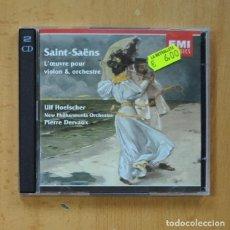 CDs de Música: SAINT SAENS / ULF HOELSCHER / PIERRE DERVAUX - L´OEUVRE POUR VIOLON & ORCHESTRE - 2 CD. Lote 244503790