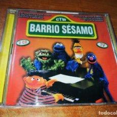 CDs de Música: BARRIO SESAMO LAS MEJORES CANCIONES BANDA SONORA 2 CD ALBUM 1999 CONTIENE 48 TEMAS MUY RARO CD DOBLE. Lote 244527295