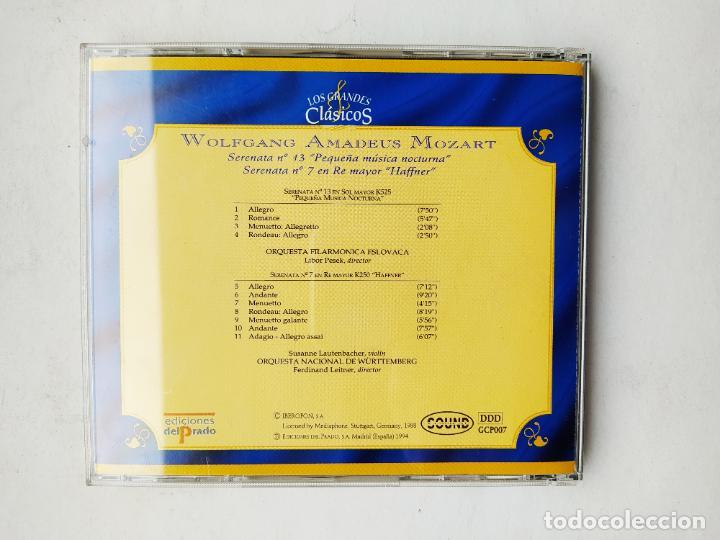 CDs de Música: LOS GRANDES CLÁSICOS. WOLFGANG AMADEUS MOZART. SERENATA Nº 13. 7. ORQUESTA ESLOVACA. CD. TDKCD37 - Foto 3 - 244565080