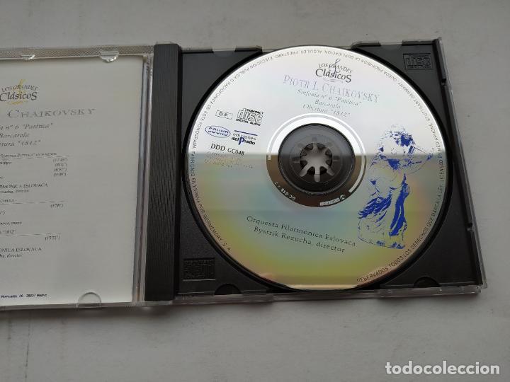 CDs de Música: LOS GRANDES CLASICOS. PIOTR I. CHAIKOVSKY. SINFONIA Nº 6 PATETICA. ORQUESTA ESLOVACA. CD TDKCD37 - Foto 2 - 244565365