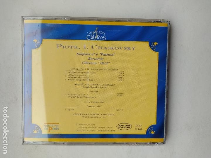 CDs de Música: LOS GRANDES CLASICOS. PIOTR I. CHAIKOVSKY. SINFONIA Nº 6 PATETICA. ORQUESTA ESLOVACA. CD TDKCD37 - Foto 3 - 244565365