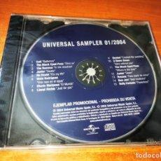 CDs de Música: UNIVERSAL SAMPLER 01/2004 CD PROMO PRECINTADO ESPAÑA BON JOVI COTI NO DOUBT THE RASMUS BUSTED. Lote 244568100