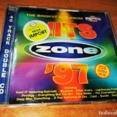 CDs de Música: HITS ZONE'97 DOBLE CD ALBUM BJORK SUEDE EAS 17 BACKSTREET BOYS BOYZONE OMD PRODIGY 40 TEMAS 2 CD. Lote 244570325