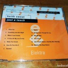 CDs de Música: KEITH SWEAT JUST A TOUCH CD ALBUM PROMO DEL AÑO 2016 ALEMANIA CONTIENE 13 TEMAS SOUL R & B FUNK RARO. Lote 244584965