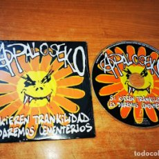 CDs de Música: A PALO SEKO SI KIEREN TRANQUILIDAD LES DAREMOS CEMENTERIOS CD SINGLE PROMO DEL AÑO 1998 3 TEMAS RARO. Lote 244586720