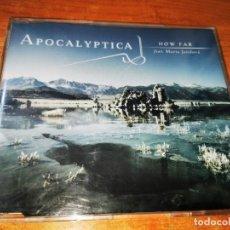 CDs de Música: APOCALYPTICA HOW FAR FEAT MARINA JANDOVÁ CD SINGLE AÑO 2005 DIE HAPPY SYMPHONIC METAL 5 TEMAS RARO. Lote 244589485
