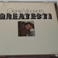 CDs de Música: CD ( GENE VINCENT´S - GREATEST! )1988 CAPITOL - ROCK & ROLL - ROCKABILLY. Lote 244620005