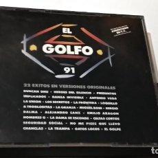 CDs de Música: CD DOBLE ( EL GOLFO 91 )1991 DRO GASA: HÉROES DEL SILENCIO, LOQUILLO Y TROGLODITAS, HOMBRES G. Lote 244620585