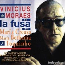CD di Musica: VINICIUS DE MORAES, MARIA CREUZA, TOQUINHO, MARIA BETHÂNIA – EN LA FUSA -2 CDS - NUEVO Y PRECINTADO. Lote 244659220