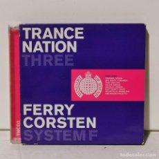 CDs de Música: 2 CD'S MUSICA - TRANCE NATION THREEE - FERRY CORSTEN SYSTEM F / 188. Lote 244659890
