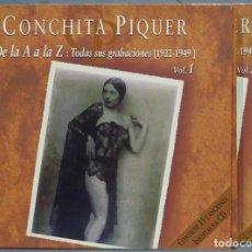 CDs de Música: 2 CD. CONCHITA PIQUER. DE LA A LA Z. Lote 244695480