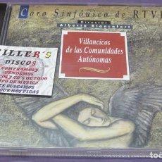 CDs de Música: VILLANCICOS DE LAS COMUNIDADES AUTÓNOMAS - ALBERTO BLANCAFORT - CORO SINFÓNICO DE RTVE - CD. Lote 244719590