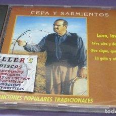 CDs de Música: CEPA Y SARMIENTOS - CANCIONES POPULARES TRADICIONALES - LAVA, LAVA - CD. Lote 244722300