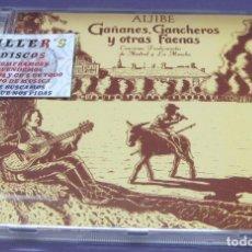 CDs de Música: ALJIBE - GAÑANES, GANCHEROS Y OTRAS FAENAS - CANCIONES TRADICIONALES DE MADRID Y LA MANCHA - CD. Lote 244722985