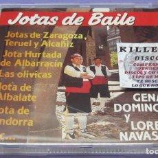 CDs de Música: JOTAS DE BAILE - GENARO DOMÍNGUEZ / LORENZO NAVASCUES - CD. Lote 244732295