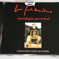 CDs de Música: LUIS GARCÍA MONTERO, ANTOLOGÍA PERSONAL, COLECCIÓN VISOR DE POESÍA, POEMAS, CD, EXCELENTE ESTADO. Lote 244744340