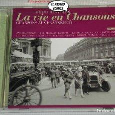 CDs de Música: LA VIE EN CHANSONS, LES PLUS BELLES CHANSONS FRANÇAISES DU SEGLE, CD, 22 TEMAS, VARIOS. Lote 244763750
