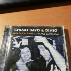 CD de Música: RAR SINGLE CD. CHIMO BAYO & DINIO. MIRA QUE ALEGRIA. 4 TRACKS. Lote 244787950